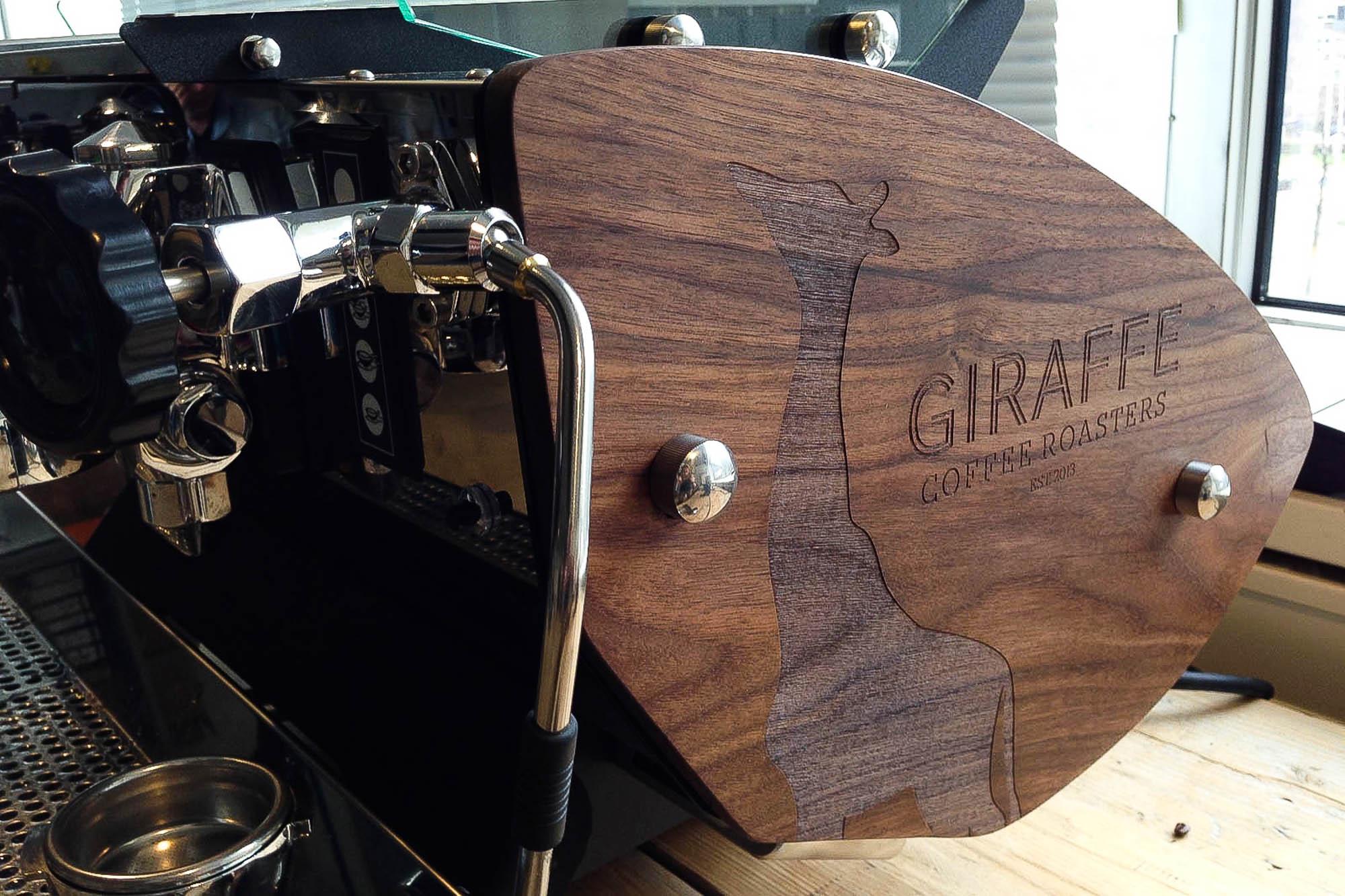 houten paneel koffie
